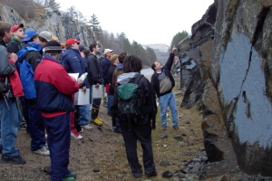 Cambrian Geology Students in the Field
