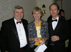 Ed Thompson, Mining Consultant; Nean Allman, CMHF Coordinator; Doug Donnelly, Publisher, Northern Miner