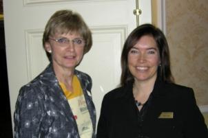 Nean Allman, CMHF Coordinator; Patty Mannard, Peat Resources