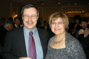Don Bubar, President Avalon Ventures Ltd; MaryAnn Mihychuk, Director of Corporate Relations, HudBay Minerals Inc.