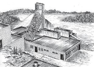 Densison #2 Shaft House - Elliot Lake 1957