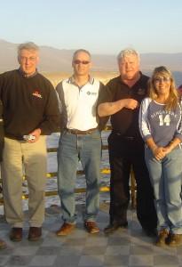 SAMSSA Members in Antofagasta, Chile (2004); Dick DeStefano, SAMSSA; Andre Ruest, B&D Manufacturing; Norbert Hoffman, Novenco; Ivania Misetic, Chilean Economic Development Agency