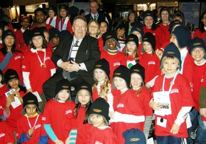 Ontario Northern Development and Mines Minister Michael Gravelle and PDAC Mining Matters Kids