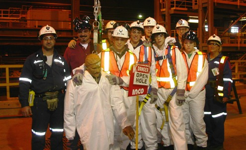 Students from Rainbow District School Board at a Vale Inco facility in Sudbury - Photo Supplied
