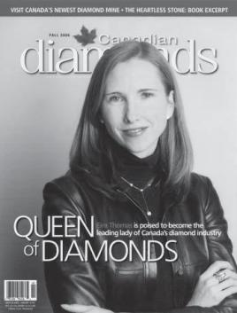 Eira Thomas on the Cover of Canadian Diamonds - Up Here Publishing