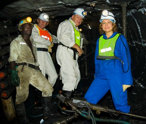 Anglo American CEO Cynthia Carroll visits Anglo Platinum's Amandelbult Mine - Anglo American Photo