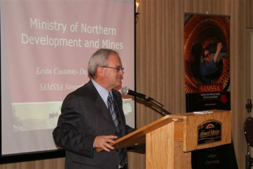 Kevin Costante - Deputy Minister of Northern Development and Mines at SAMSSA Annual Meeting