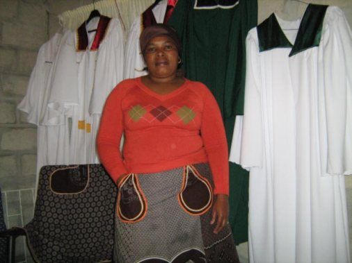 The Townships Project - Mrs. Kalan Makes Choir Gowns for Local Churches