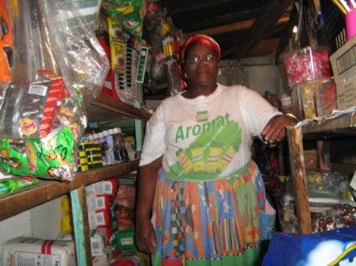 The Townships Project - Mrs. Nkopo in her Home-based Tuck or Spazza Shop