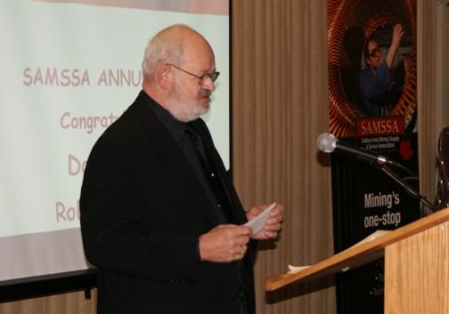 Don Rastall at the SAMSSA Annual Meeting