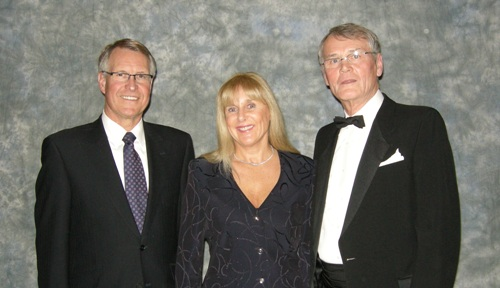 (l to r) Gerald Grandey, President and CEO Cameco Corporation, Suzy Michel, Bernard Michel