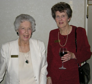 (l to r) CMHF Volunteers Doris Charterris and Pat Crombie