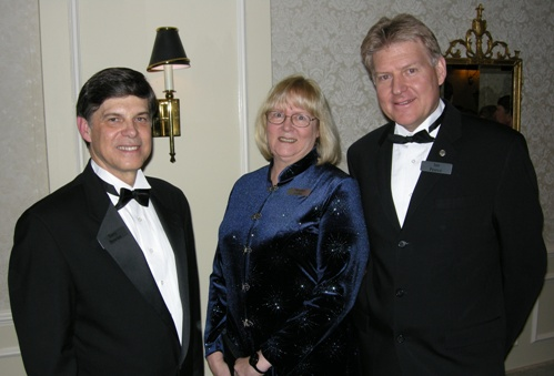 Terry Bowles, President & CEO, Iron Ore Company of Canada, Marilyn Scales, Field Editor, Canadian Mining Journal, Ian Pearce, CEO Xstrata Nickel