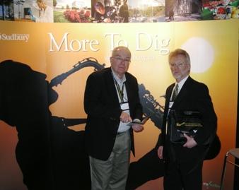 Paul Reid and Steve J. Gossling in front of Sudbury Booth
