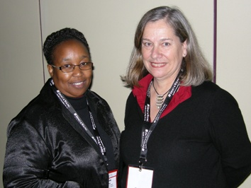 Yvonne Radinku, Executive Director, Tetla Financial Solutions; Martha Deacon, CEO and Founder of The Townships Project