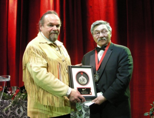 (L to R) Chief Glenn Nolan, 2nd VP PDAC; Willie S. Keatainak