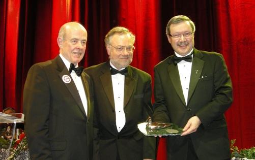(L to R) Jon Baird, PDAC President; Bill Mercer, Avalon VP-Exploration; Don Bubar, Avalon President and CEO
