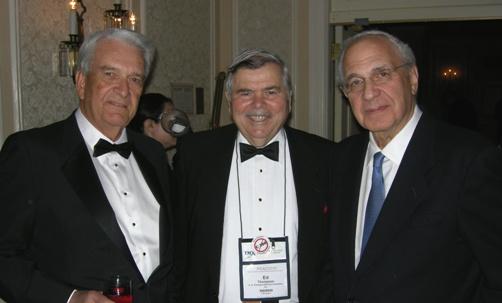 (L to R) John Harvey; Edward G. Thompson, Director/Treasurer, Mining Hall of Fame; Ned Goldman