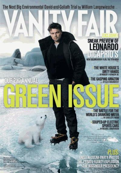 Leo DiCaprio on Cover of Vanity Fair Green Issue - April 2007