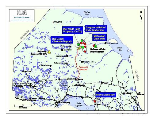 Map Courtesy KWG Resources Inc.