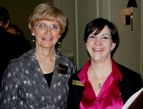 (L to R) Nean Allman,Coordinator, Canadian Mining Hall of Fame Emerita;  Becky Bays, Coordinator, Canadian Mining Hall of Fame