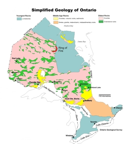 Northern ontario a golden klondike 192 million ounces of gold and ontario greenstone belts map ontario geological survey gumiabroncs Images