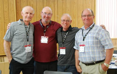 (L to R) Former Agnico employees Jack Laquerre, Maurice Mercier, Jean-Paul Parent and Joseph Mercier