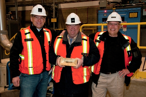 (L to R) John Burzynski, Sean Roosen and Robert Wares found and build the Osisko mine which is the largest gold producer in Canada.
