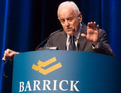 Barrick Gold Corporation Founder and Chairman Peter Munk.