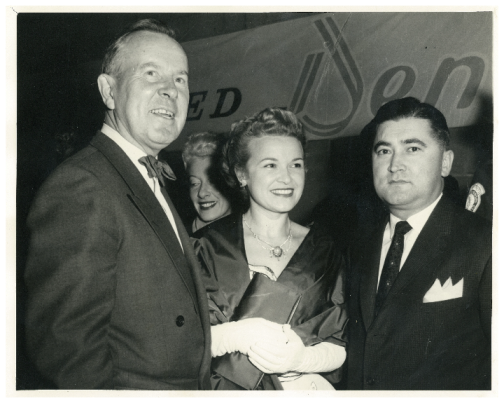 Prime Minister Lester Pearson, Betty and Stephen Roman.